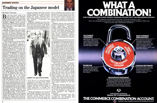 Article Preview: Trading on the Japanese model, November 1983 | Maclean's