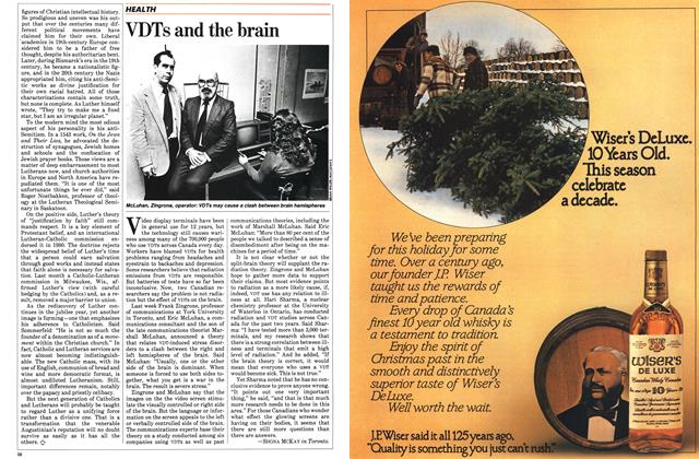 Article Preview: VDTs and the brain, November 1983 | Maclean's