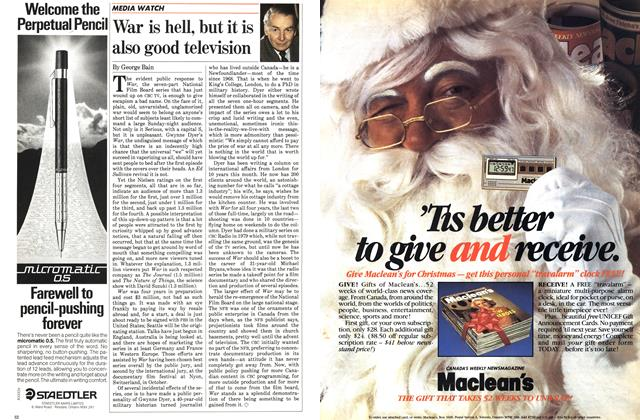 Article Preview: War is hell, but it is also good television, November 1983 | Maclean's