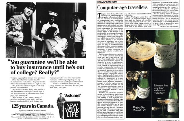 Article Preview: Computer-age travellers, November 1983 | Maclean's