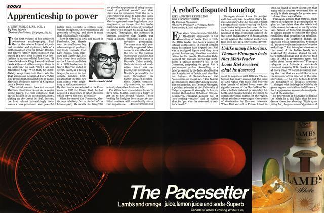 Article Preview: A rebel's disputed hanging, November 1983 | Maclean's