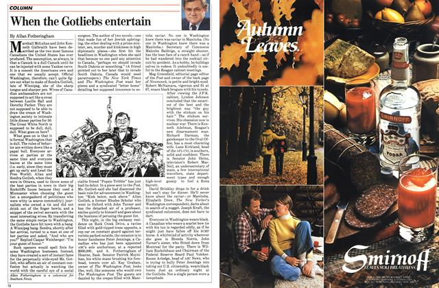 Article Preview: When the Gotliebs entertain, November 1983 | Maclean's