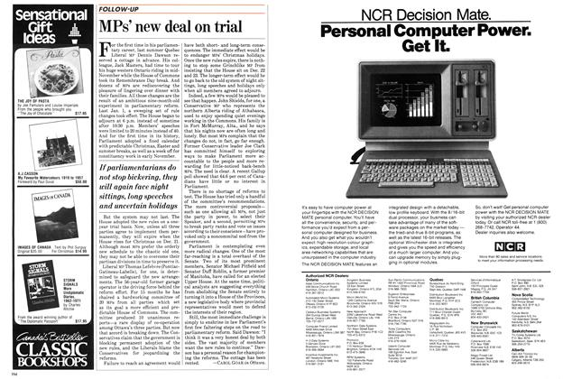 Article Preview: MPs' new deal on trial, November 1983 | Maclean's
