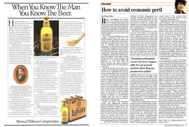 Article Preview: How to avoid economic peril, November 1983 | Maclean's