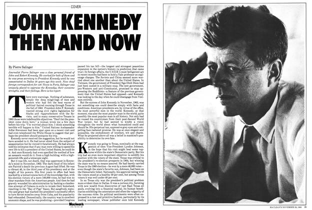 Article Preview: JOHN KENNEDY THEN AND NOW, November 1983 | Maclean's