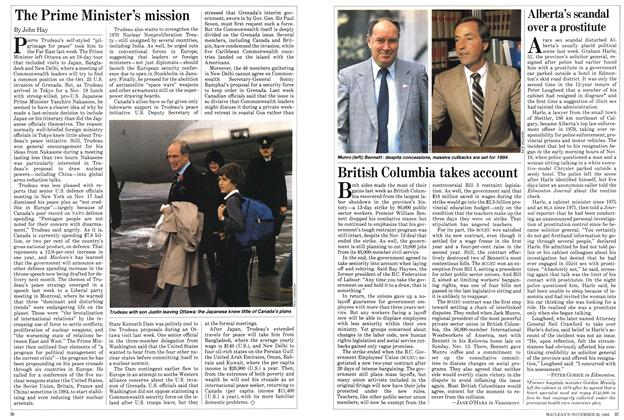 Article Preview: The Prime Minister's mission, November 1983 | Maclean's