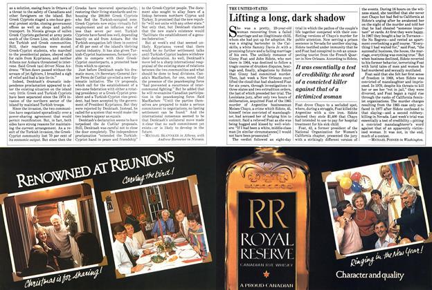Article Preview: Lifting a long, dark shadow, November 1983 | Maclean's
