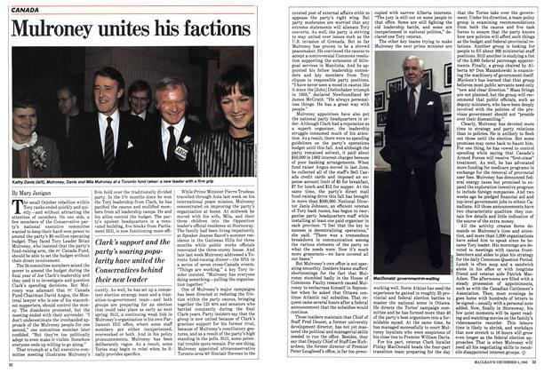 Article Preview: Mulroney unites his factions, December 1983 | Maclean's