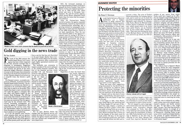 Article Preview: Gold digging in the news trade, December 1983 | Maclean's