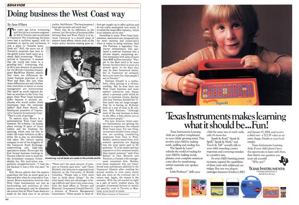 Article Preview: Doing business the West Coast way, December 1983 | Maclean's