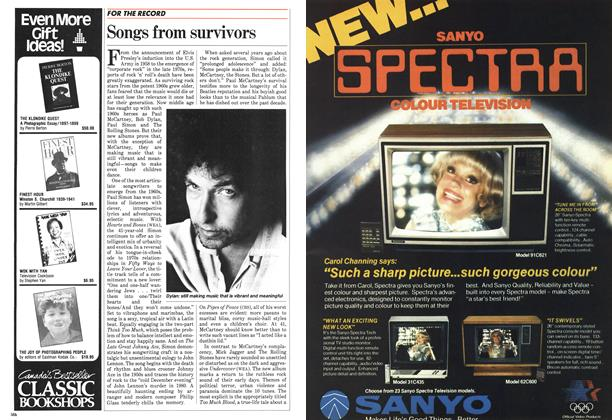 Article Preview: Songs from survivors, December 1983 | Maclean's