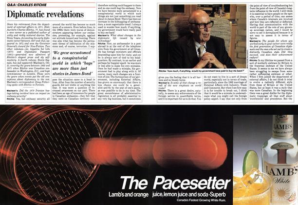 Article Preview: Diplomatic revelations, December 1983 | Maclean's