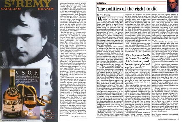 Article Preview: The politics of the right to die, December 1983 | Maclean's