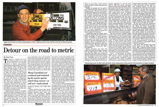 Article Preview: Detour on the road to metric, December 1983 | Maclean's