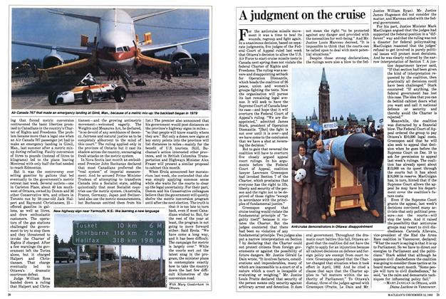 Article Preview: A judgment on the cruise, December 1983 | Maclean's