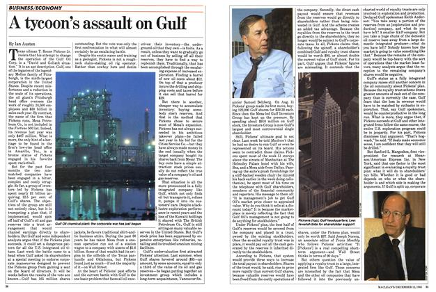 Article Preview: A tycoon's assault on Gulf, December 1983 | Maclean's