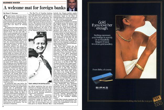 Article Preview: A welcome mat for foreign banks, December 1983 | Maclean's