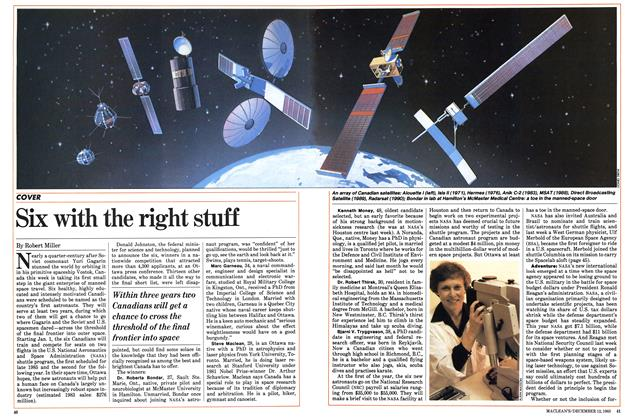 Article Preview: Six with the right stuff, December 1983 | Maclean's