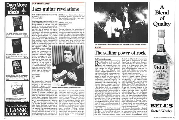 Article Preview: The selling power of rock, December 1983 | Maclean's