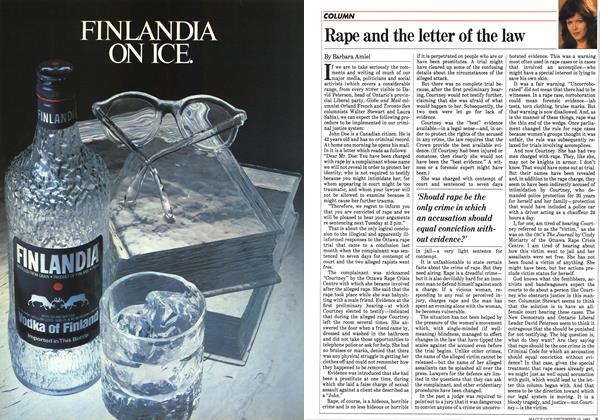 Article Preview: Rape and the letter of the law, December 1983 | Maclean's
