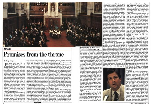 Article Preview: Promises from the throne, December 1983 | Maclean's