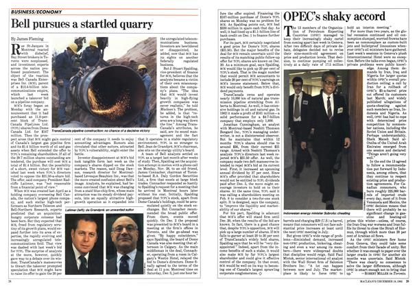 Article Preview: Bell pursues a startled quarry, December 1983 | Maclean's
