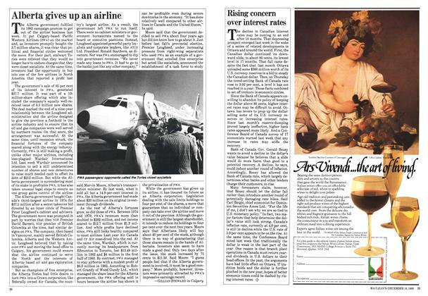 Article Preview: Alberta gives up an airline, December 1983 | Maclean's