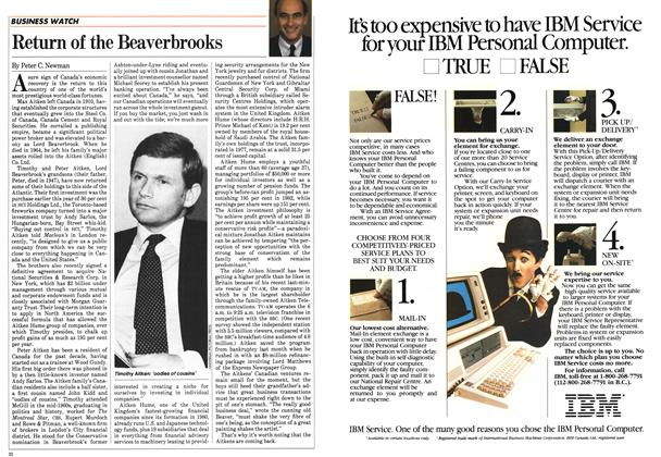 Article Preview: Return of the Beaverbrooks, December 1983 | Maclean's