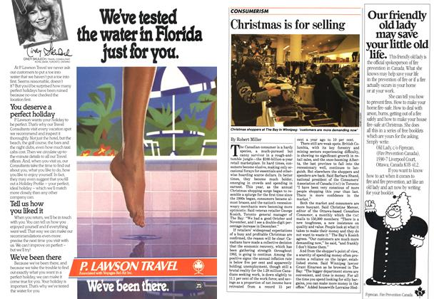 Article Preview: Christmas is for selling, December 1983 | Maclean's
