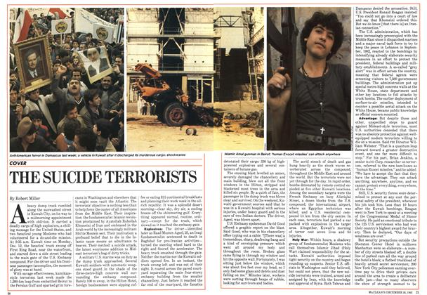 Article Preview: THE SUICIDE TERRORISTS, December 1983 | Maclean's