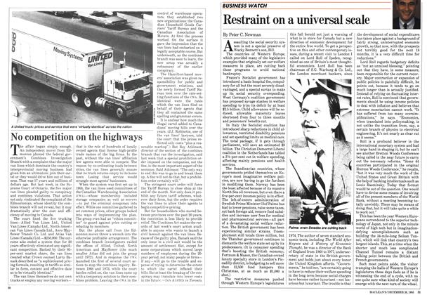 Article Preview: No competition on the highways, December 1983 | Maclean's