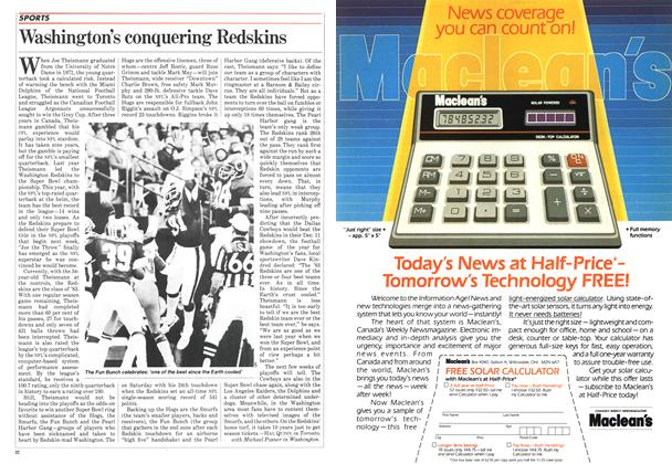 Article Preview: Washington's conquering Redskins, December 1983 | Maclean's