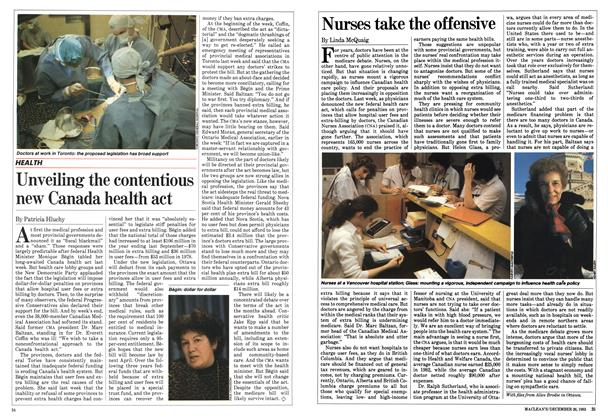 Article Preview: Nurses take the offensive, December 1983 | Maclean's