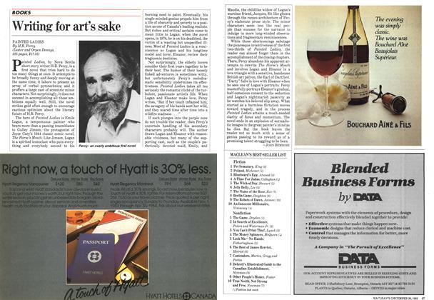 Article Preview: Writing for art's sake, December 1983 | Maclean's