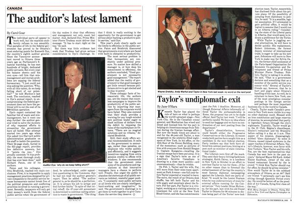 Article Preview: Taylor's undiplomatic exit, December 1983 | Maclean's