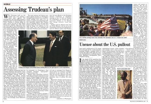 Article Preview: Unease about the U.S. pullout, December 1983 | Maclean's
