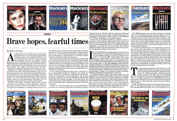 Article Preview: Brave hopes, fearful times, January 1984 | Maclean's