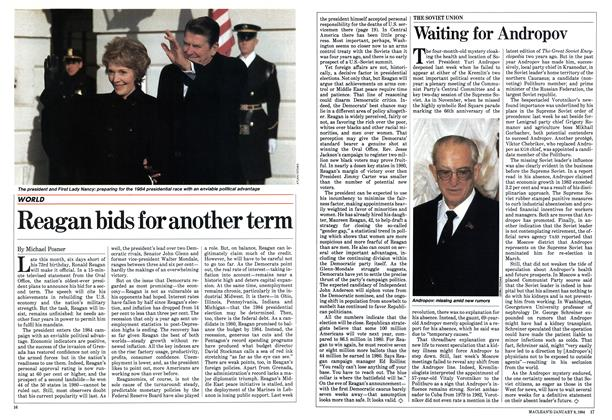 Article Preview: Reagan bids for another term, January 1984 | Maclean's