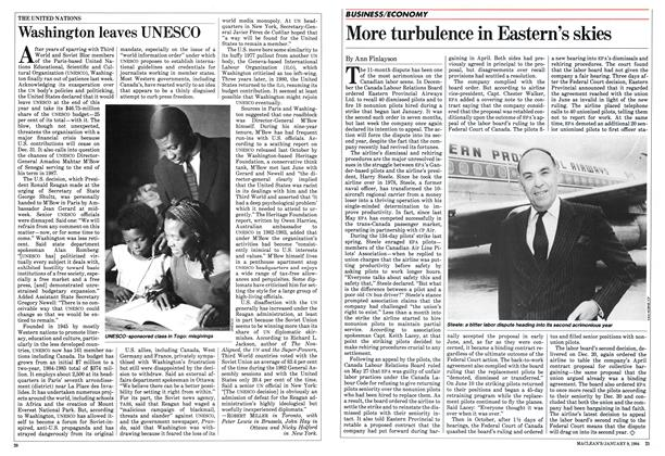 Article Preview: Washington leaves UNESCO, January 1984 | Maclean's