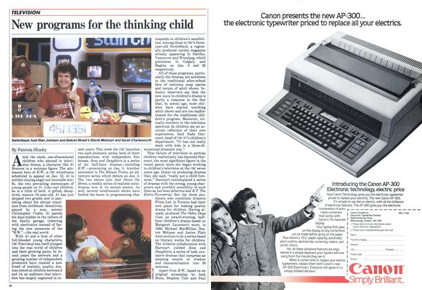 Article Preview: New programs for the thinking child, January 1984 | Maclean's