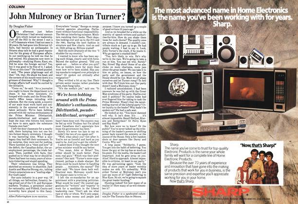 Article Preview: John Mulroney or Brian Turner?, January 1984 | Maclean's