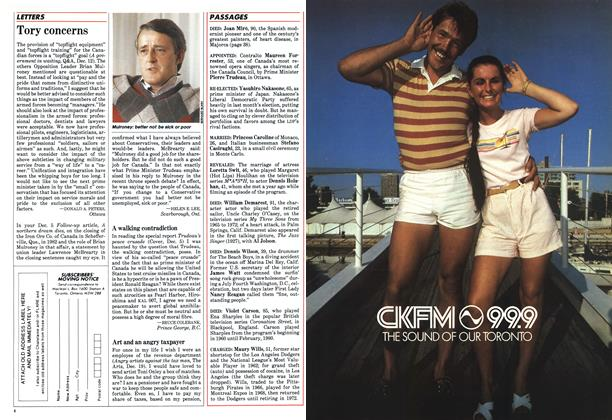 Article Preview: LETTERS, January 1984 | Maclean's