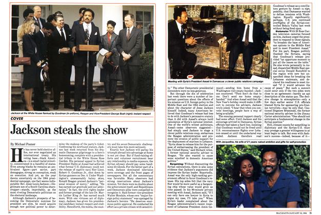 Article Preview: Jackson steals the show, January 1984 | Maclean's