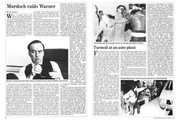 Article Preview: Murdoch raids Warner, January 1984 | Maclean's