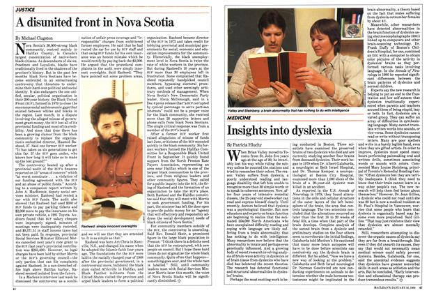 Article Preview: Insights into dyslexia, January 1984 | Maclean's