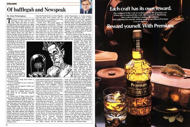 Article Preview: Of bafflegab and Newspeak, January 1984 | Maclean's