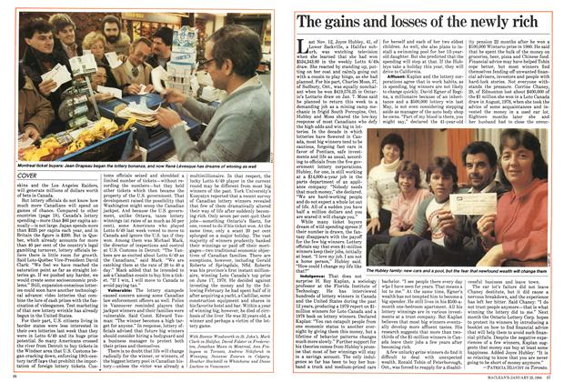 Article Preview: The gains and losses of the newly rich, January 1984 | Maclean's