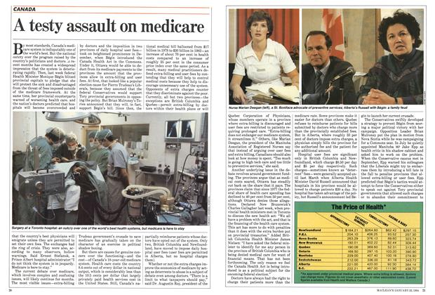 Article Preview: A testy assault on medicare, January 1984 | Maclean's