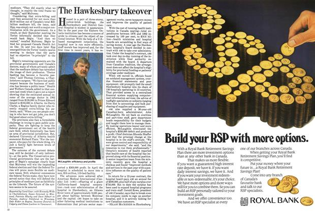 Article Preview: The Hawkesbury takeover, January 1984 | Maclean's