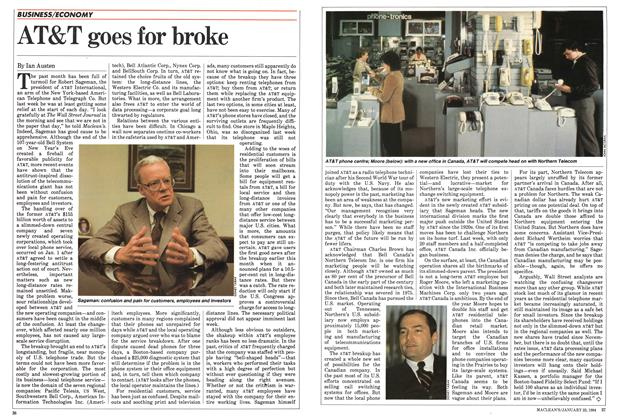 Article Preview: AT&T goes for broke, January 1984 | Maclean's
